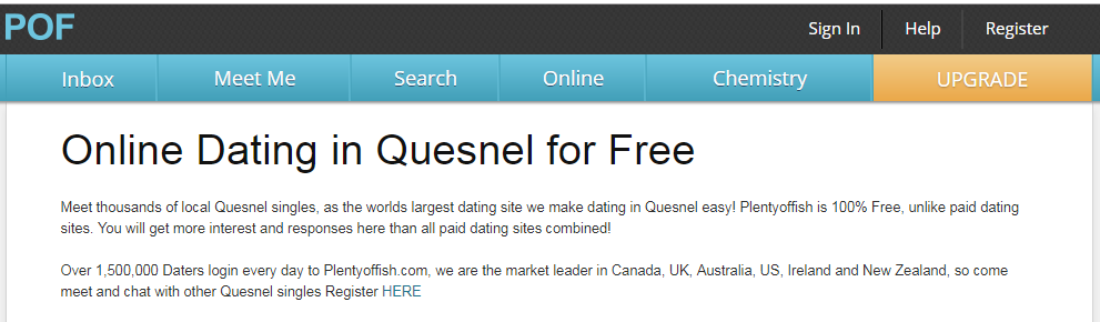 Plenty Of Fish Quesnel Login And Reset Steps