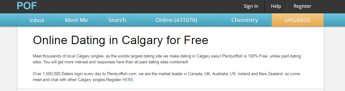 Plenty of Fish Calgary login steps