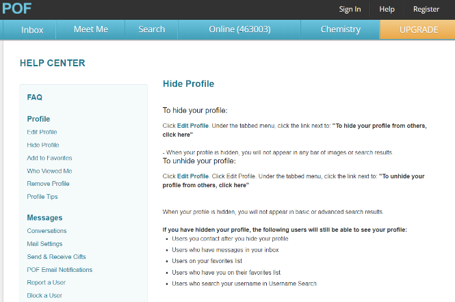 How To Be Invisible In PlentyOfFish (POF Hide Profile