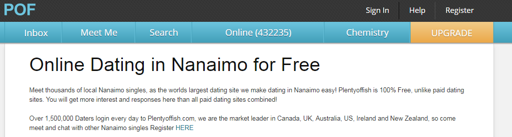 Plenty of Fish Nanaimo Login And Reset