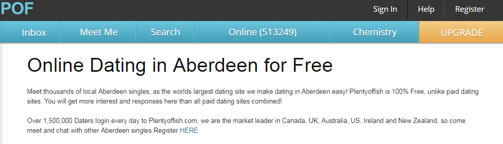 PlentyOfFish Aberdeen Login