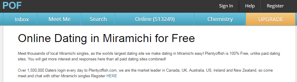 PlentyOfFish POF Miramichi Login and Reset steps