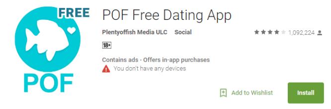 pof mobile app log in