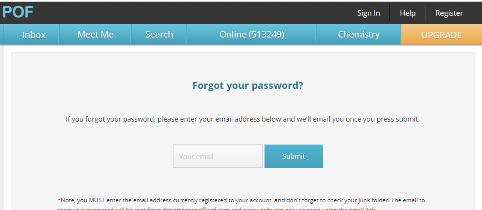 PlentyOfFish Omaha Reset Password