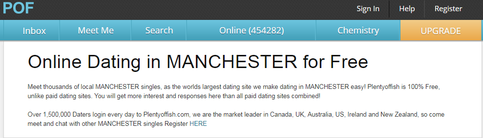 POF Manchester Dating Login And Reset